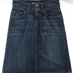 Red Engine Medium Wash Denim Skirt